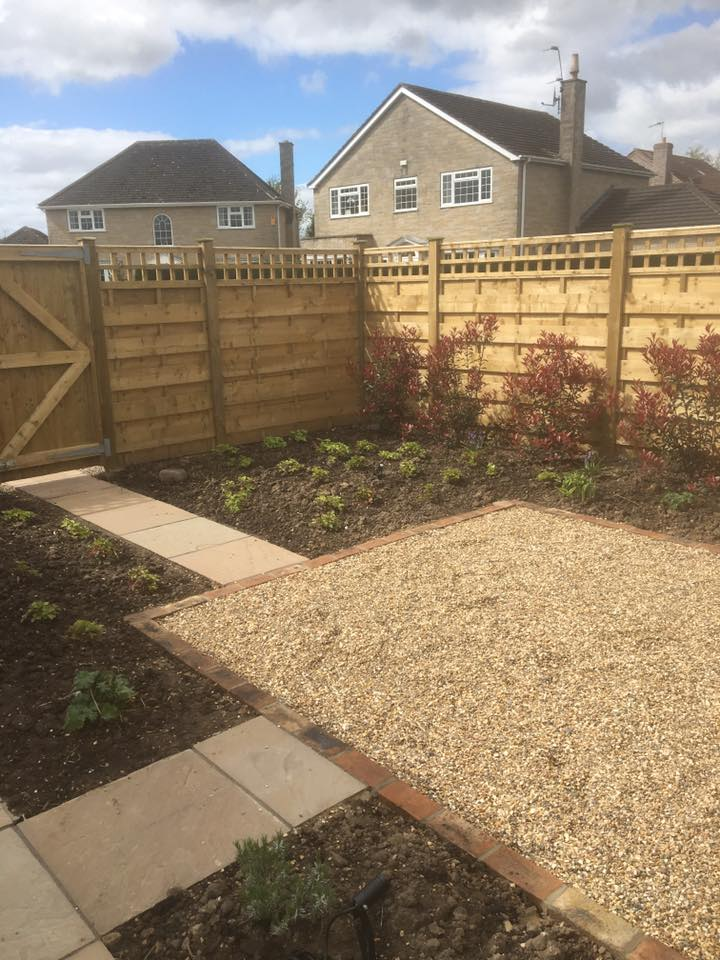 Gravel Seating Area