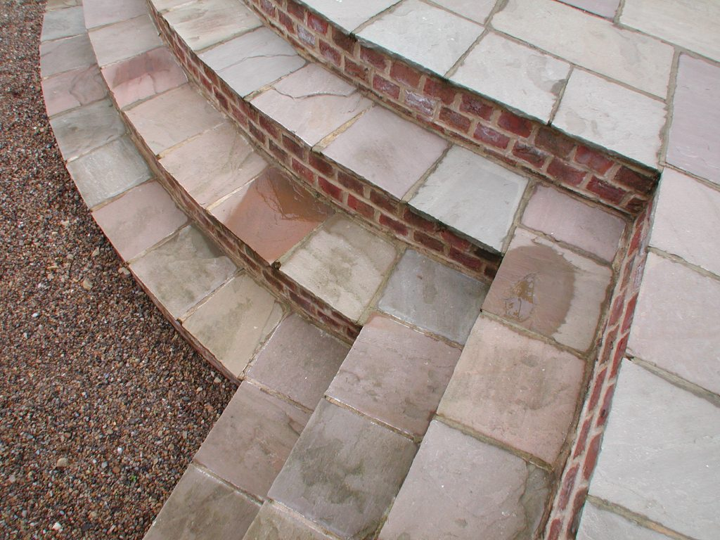 Close up of Indian Stone Steps