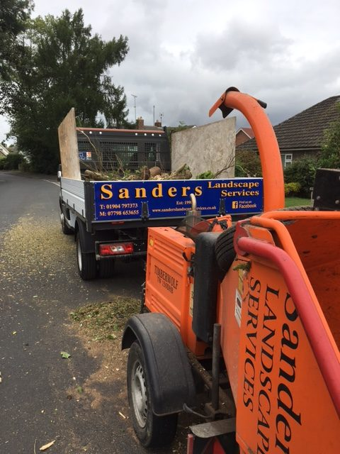 Chipper Used to Process Green Waste