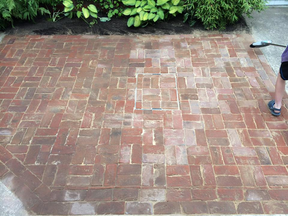 Hand Made Brick Patio
