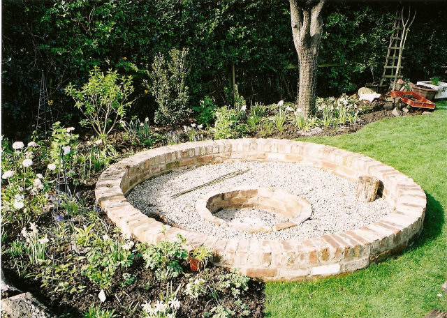 Fire Pit with Brick Seating
